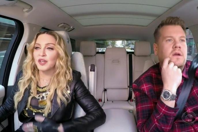 """Madonna w nowym odcinku """"Carpool Karaoke"""" Jamesa Cordena"""