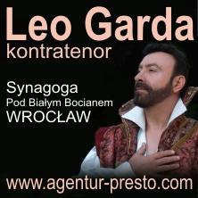 Leo Garda kontratenor wraz z orkiestrą