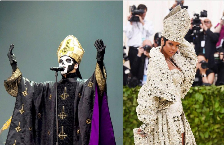 """Ghost odpowiedzieli na """"papieski"""" strój Rihanny"""