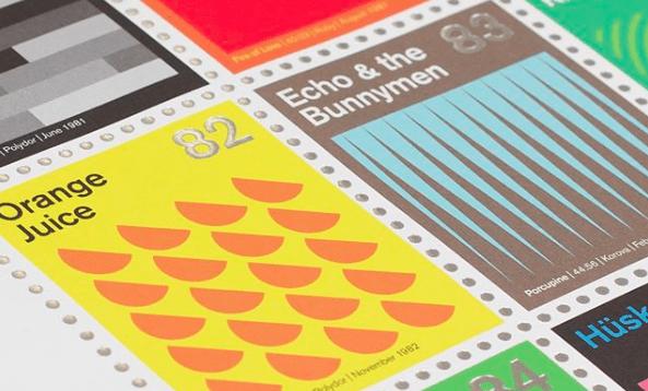 Klasycy post-punka i rocka na znaczkach pocztowych
