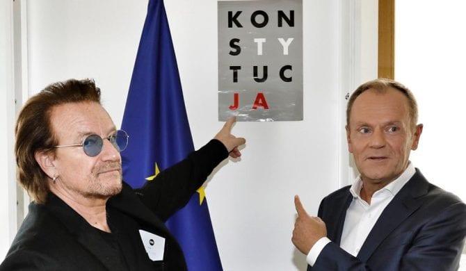 Bono i Tusk przypominają o przestrzeganiu konstytucji