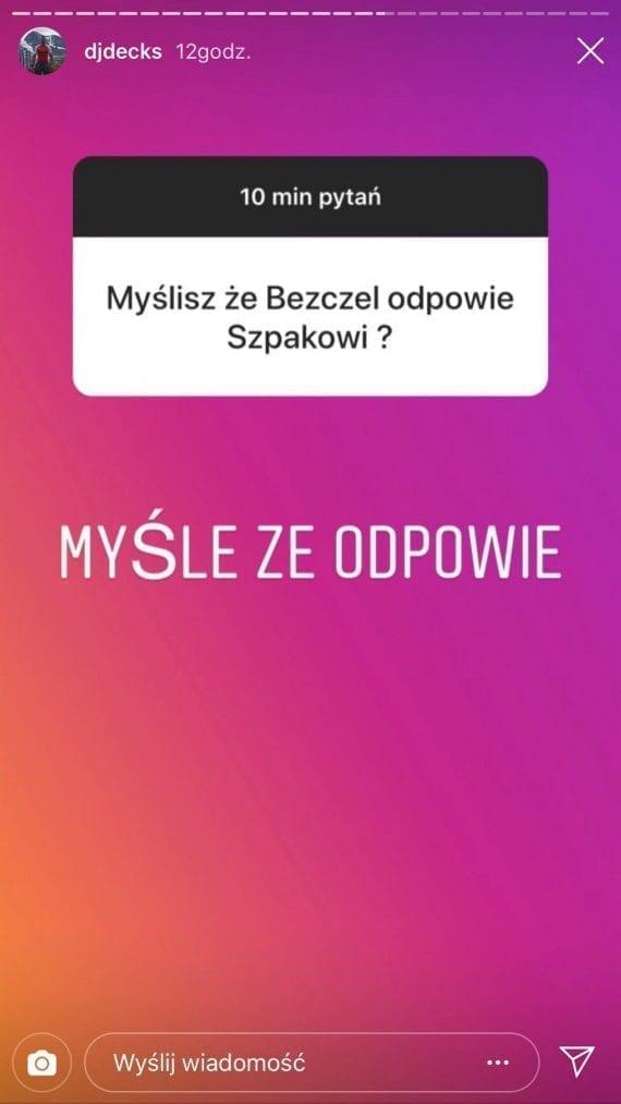DJ Decks o swoich relacjach z Peją i beefie Szpaka z Bezczelem