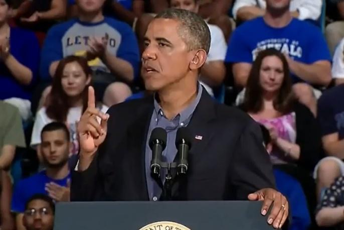"""Barack Obama """"śpiewa"""" hit Marka Ronsona i Bruno Marsa"""
